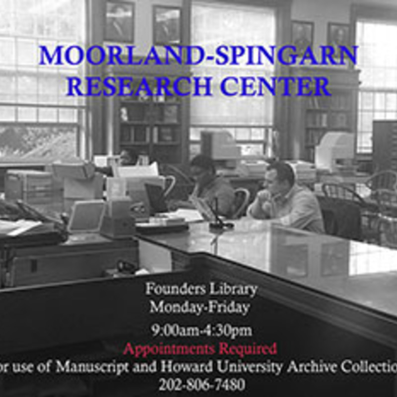Moorland-Spingarn Research Center, Howard University